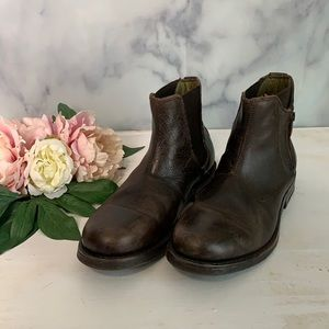 Bed Stu Faro Chelsea Brown Leather Boot Size 8